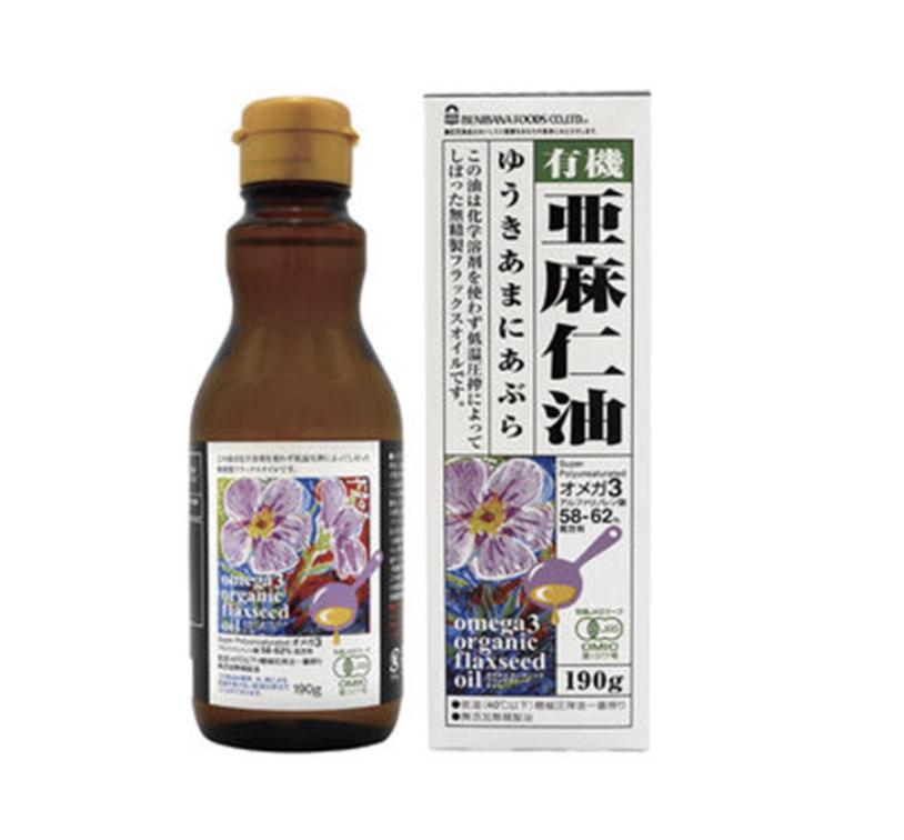 有機亜麻仁油(オーガニックフラックスシードオイル) 190g 商品コード:O-0055