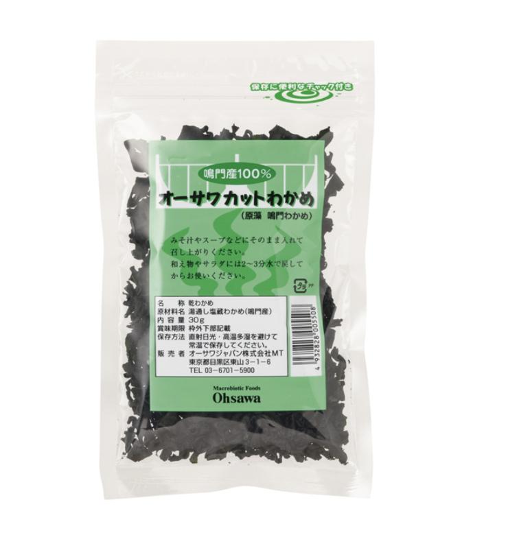 オーサワ カットわかめ(鳴門産)30g 商品コード:O-0550