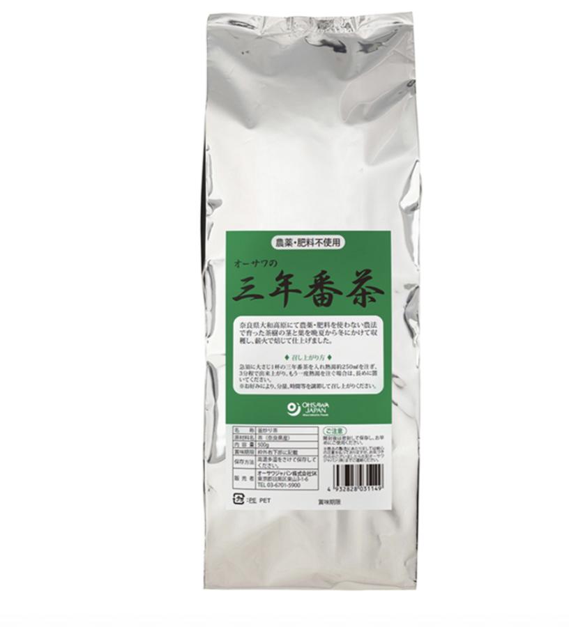 オーサワの三年番茶 500g 商品コード:O-3114