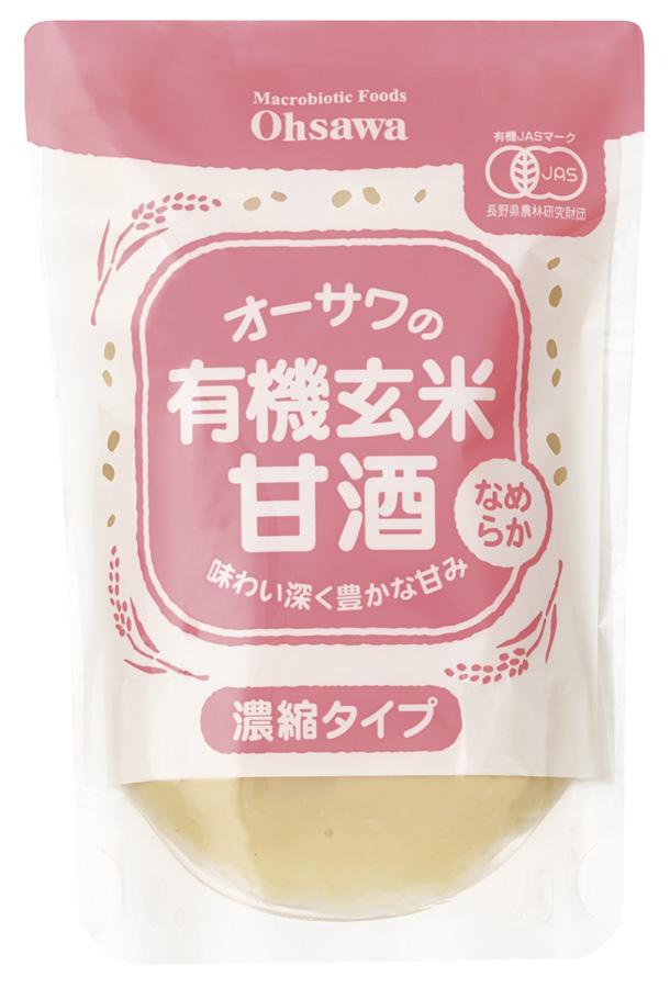 有機玄米甘酒(なめらか)200g 商品コード:O-6370
