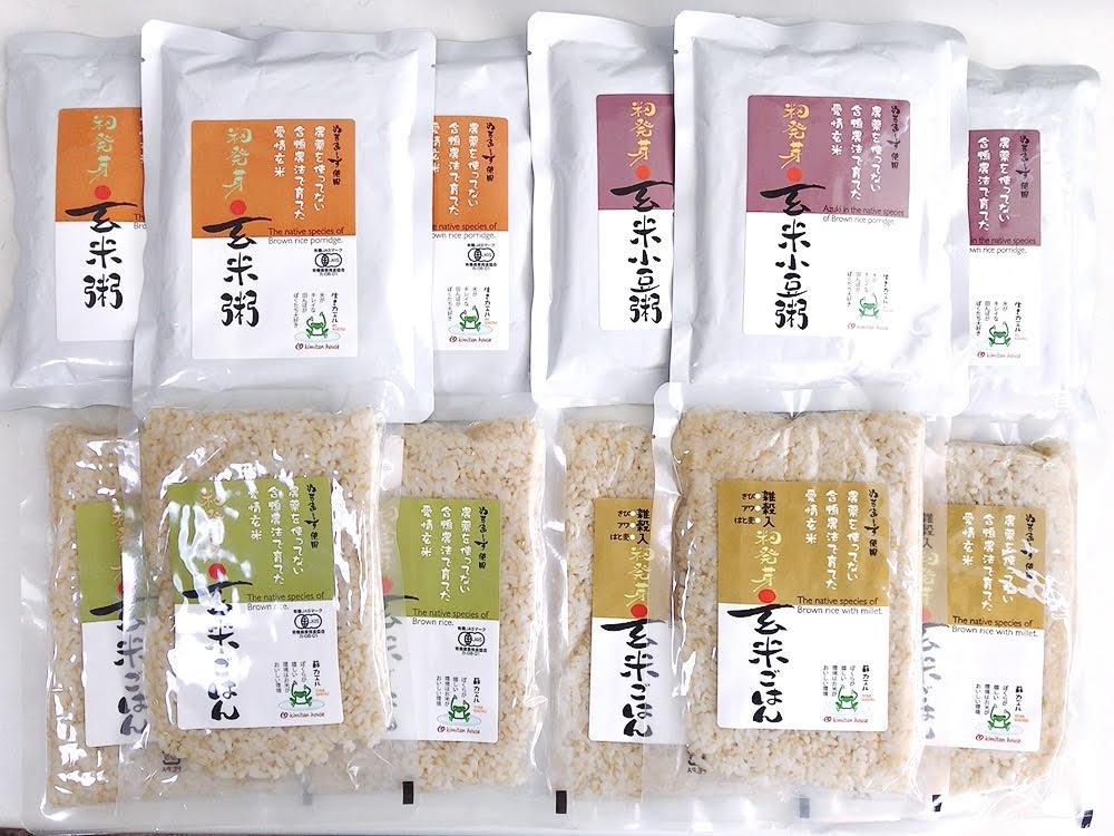 愛情玄米ミックスセット各3袋 全12袋 商品コード:Y-8407