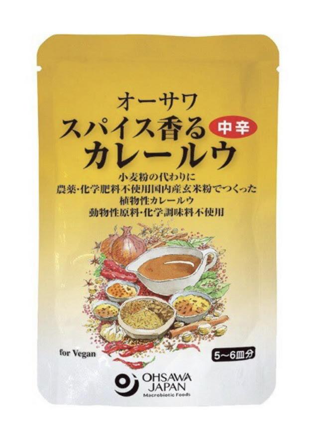 オーサワのスパイス香るカレールウ(中辛) 120g 商品コード:O-2491